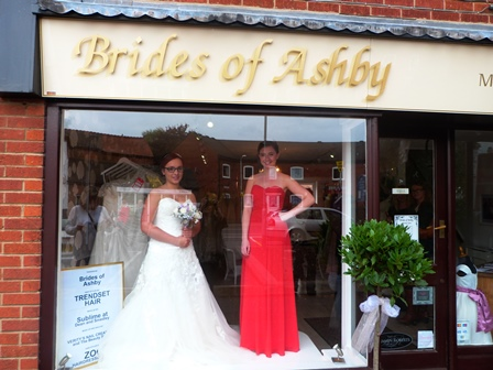 Fabulous window displays by live student mannequins for Ashby windows