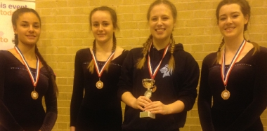 Trampolinists Get Top Three Finish