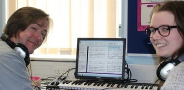 Visiting Composer Shares Expertise with Music Students