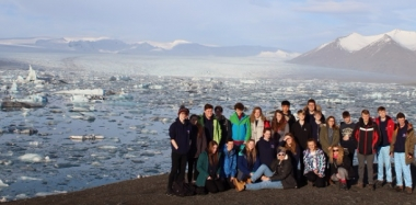 Students Visit Iceland's Glaciers, Lava Fields, Geysers and Icebergs - All in Four Days