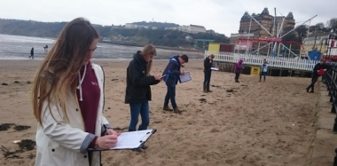 Sun Shines in Scarborough for Geography Field Trip