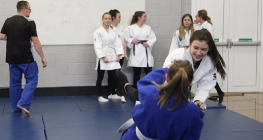 Girls Throw Themselves into Judo on First Week of Sports Scheme