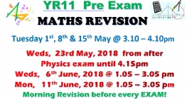 Year 11 Mock Maths Exam is Coming!