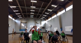 Students Get a Taste of Wheelchair Basketball