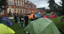 Pay At-tent-ion! Camp Site Springs Up on School Lawn