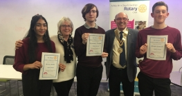 Rotary Speakers Reach Next Round